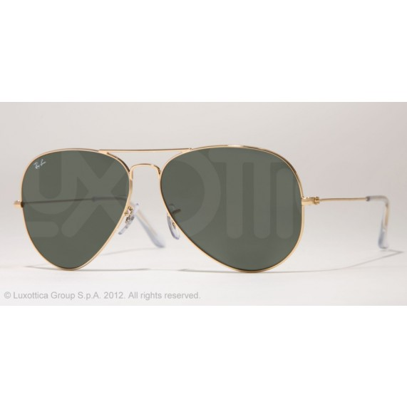 Occhiali da sole Ray Ban Aviator Oro rb3025 001
