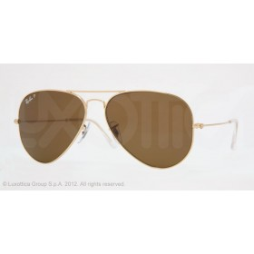 Occhiali da sole Ray Ban Aviator Oro rb3025 001/57