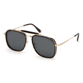 Occhiali da Sole Tom Ford Huck Avana ft0665 52a